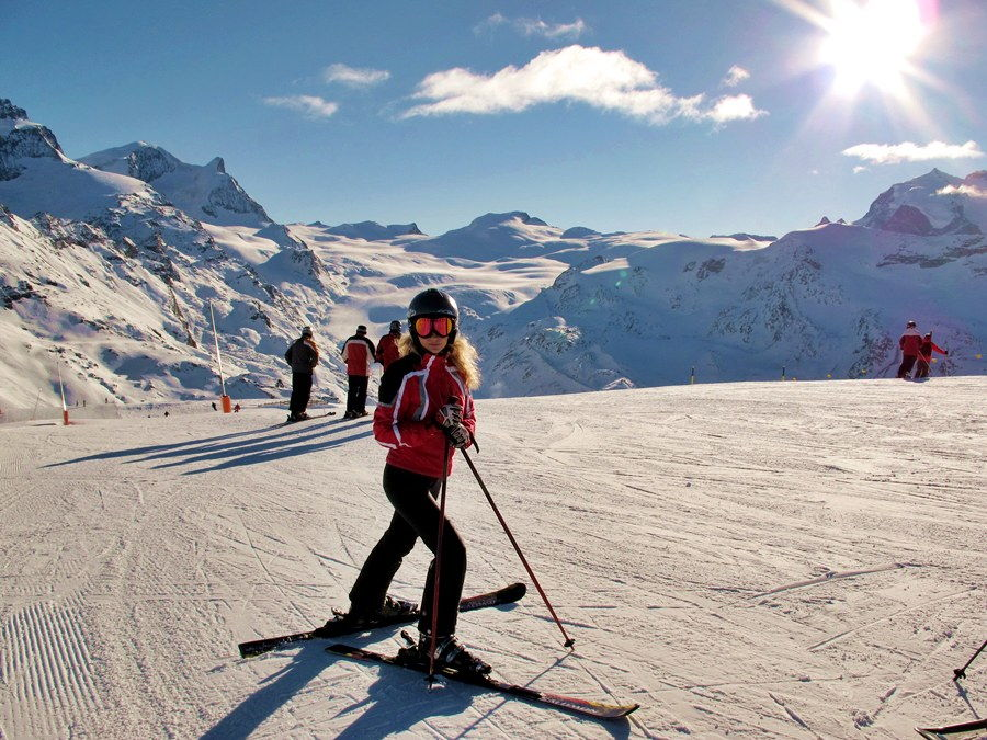 Горны лыжи в марте