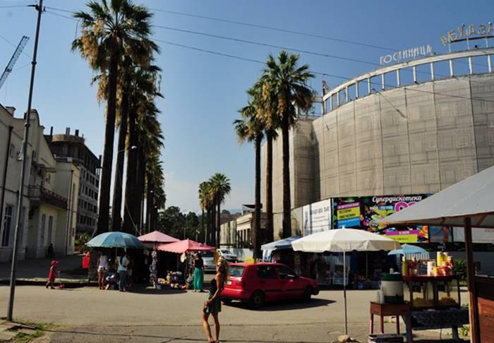 Бульвар в Сухуме