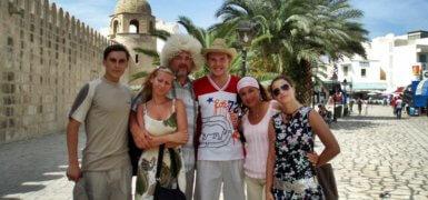 Веселая компания в Тунисе