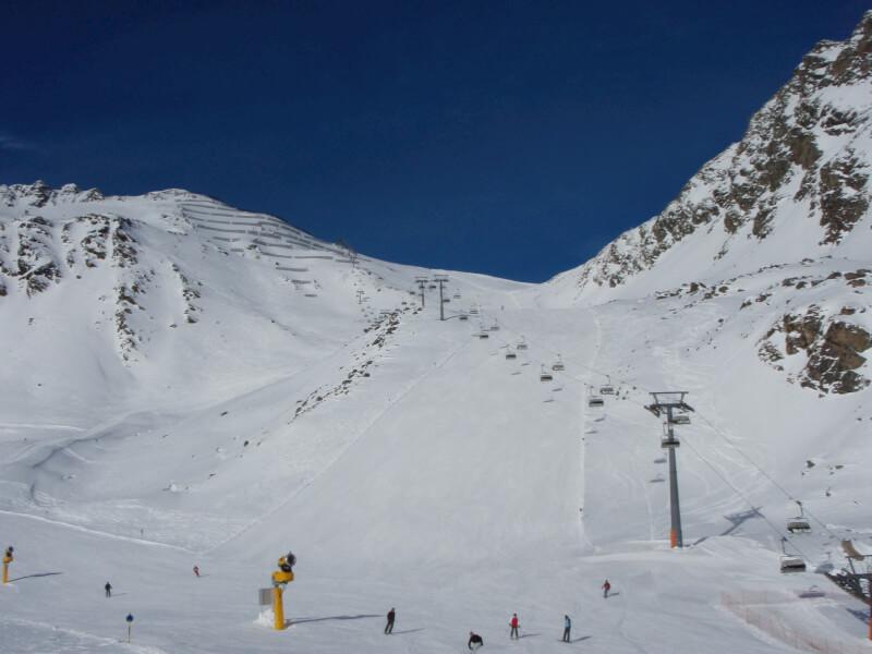 Зёльден.Австрия. Горные лыжи.