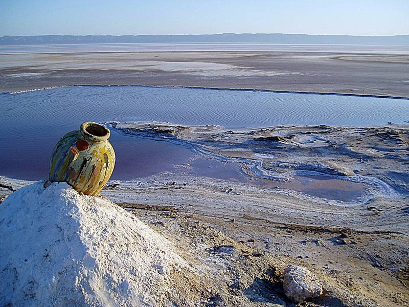 Тунис. Солёное озеро.