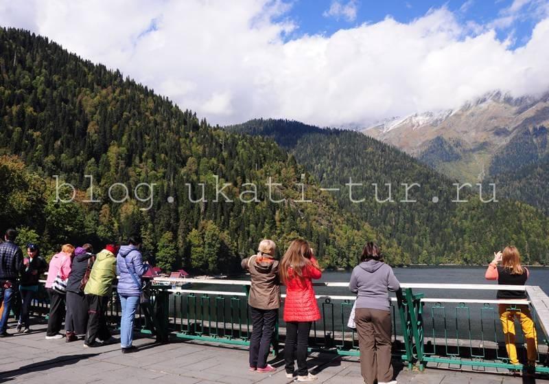 Рица туристы