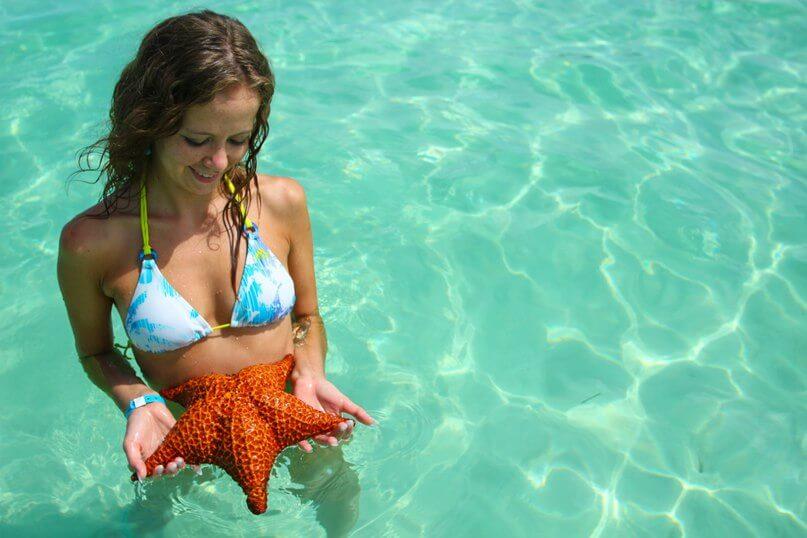 с морской звездой