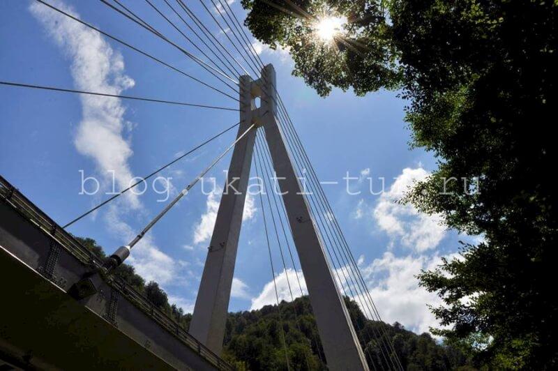 вантовый мост на новой дороге